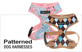 Patterned Fabric Dog Harnesses