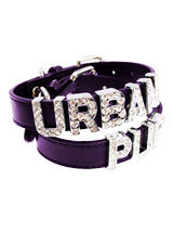 Purple Leather Personalised Dog Collar (Diamante Letters) - Purple Leather Personalised Dog Collar (Diamante Letters)