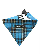 Blue Tartan Bandana - Our Blue Tartan Bandana is a traditional design which is stylish, classy and never goes out of fashion. Just attach your lead to the D-ring and this stylish Bandana can also be used as a collar. It is lightweight, incredibly strong, stylish and practical.