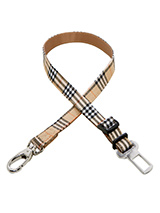 Urban Pup Brown Checked Tartan Seat Belt Restraint - Safety is paramount when travelling in the car with your dog and ensuring that they are comfortable yet restrained is essential for their safety and yours. The simple but highly effective Urban Pup Universal Seat Belt Restraint provides an easy solution. Designed to be used in conjunction with any o...