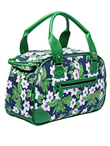 Forest Orchid Pet Carrier - Our Forest Orchid Pet Carrier has designer fabrics and trims which combine to create a chic carrier fit to show off your pet while complementing your wardrobe. This carrier is specifically designed to make your pet's journey as comfortable and as safe as possible. There is a mesh windows at one end...
