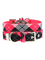 Pink Argyle Fabric Collar - Our Pink Argyle Collar is a traditional Scottish design which represents the Clan Campbell of Argyll in western Scotland. It is stylish, classy and never goes out of fashion. Used for kilts and plaids, and for the patterned socks worn by Scottish Highlanders since at least the 17th century. It is li...