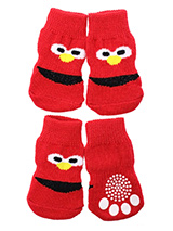Little Monster Pet Socks - These fun and functional doggie socks protect your dogs paws from mud, snow, ice, hot pavement, hot sand and other extreme weather. Made from 95% cotton and 5% spandex making them comfortable and secure. Each sock features a paw shaped anti-slip silica pad and help keep your house sanitary. (set of...